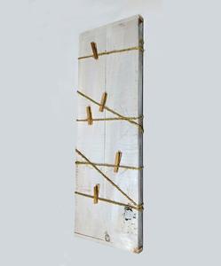 Marco madera cuerdas 18x50 blanco