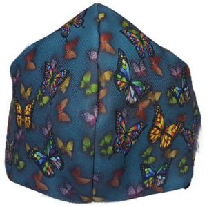 Mascarilla de Tela - Mariposas Azules