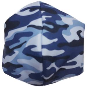 Mascarilla de Tela - Militar Azul