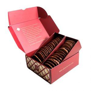 Pastas finas almendras y chocolate Moscovitas Dark (RIALTO). Caja: 250 gramos