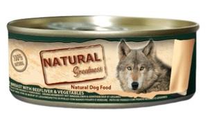 Lata Natural Greatness Pechuga de Pollo con Hígado de Buey y Verduras – 156gr
