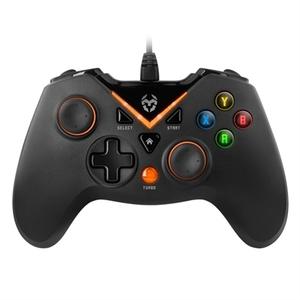 Gamepad KROM Key PC PS3 Negro/Naranja