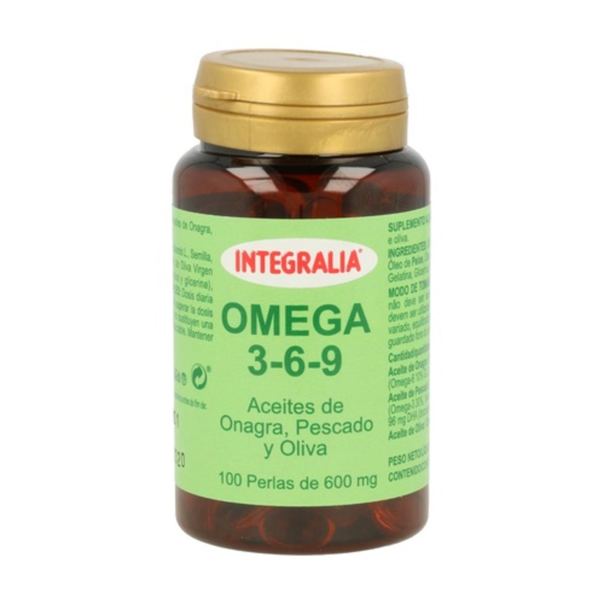 Omega 3-6-9 600mg 100 perlas. Integralia