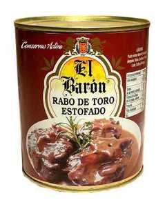 Rabo de toro estofado El Barón.  Lata 1 Kg.