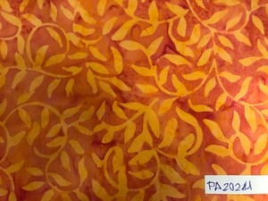 Tejido Batik - Naranja Patchwork