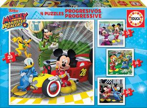 PUZZLE PROGRESIVOS MICKEY & THE ROADSTER RACERS 12-16-20-25