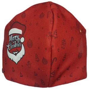 Mascarilla de Tela - Papa Noel