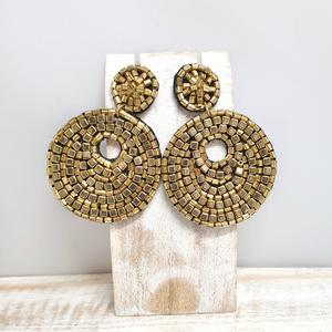 Pendientes beads Dorados