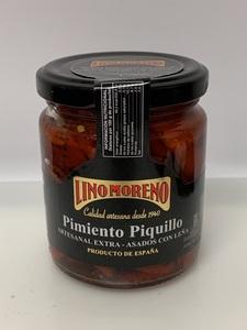 """Pimientos del piquillo asados en leña """"Lino Moreno""""."""