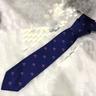 Corbata seda azul Vespas