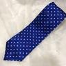 Corbata azul topo blanco
