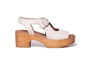 Sandalias cómodas plataforma AMAN Hielo