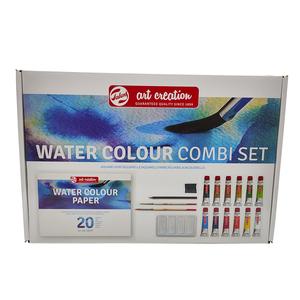 Set de acuarela Talents de 12 tubos de color y complementos