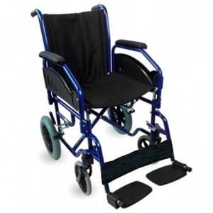 Silla de ruedas acero plegable