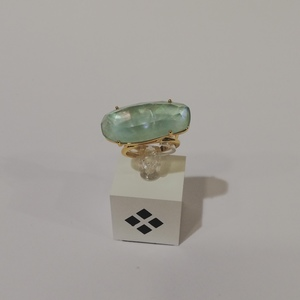 Sortija cristal facetado