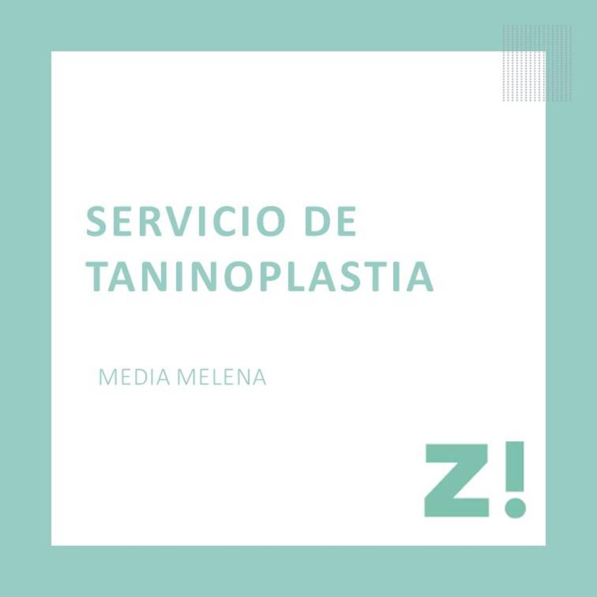 Taninoplastia media melena