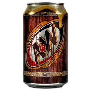 A&W root beer soda 355ml