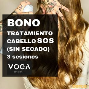Tratamiento cabello SOS (sin secado). 3 sesiones.