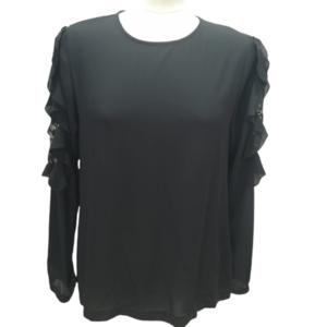 Camisa Negra Encaje