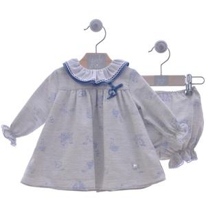 """Vestido bebé con pololo """"Familia Pompón""""-YOEDU."""