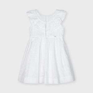 Vestido niña popelín perforado-MAYORAL