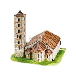 Iglesia San Clemente de Tahull ( Lleida ), Siglo XII, Escala 1:80. Marca Cuit, Ref: 453625.