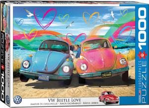 Puzzle de 1000 piezas, Amor escarabajo, Marca Eurographics, Ref. 6000-5525