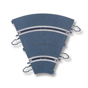 Pista Curva Interior, Dos unidades, Escala 1/32. Marca Scalextric, Ref: U10301X200.