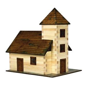 Iglesia, Kit de montaje en Madera de Pino. Marca Walachia, Ref: 1312.