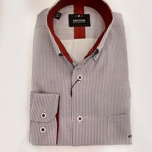 Camisa  estampada puntos rojos