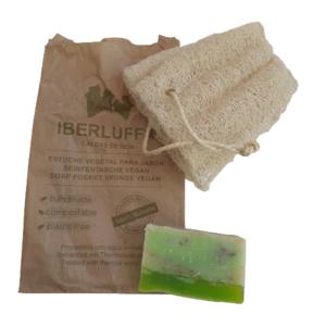 Esponja Vegetal con jabón