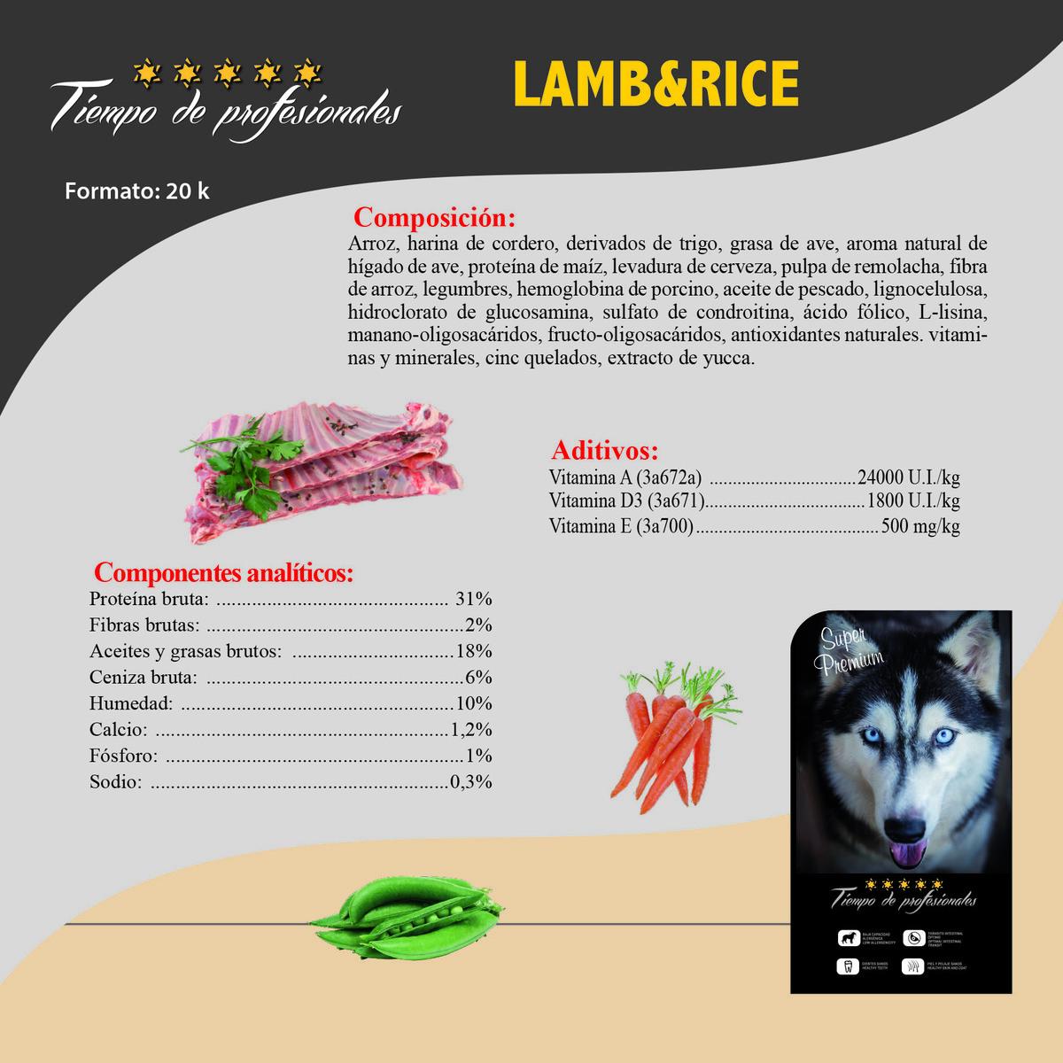 Alta Energía Lamb & Rice 20kg