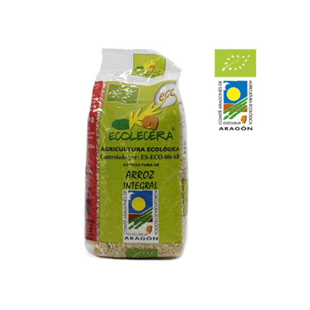 Arroz Integral Ecológico 500g. Ecolécera