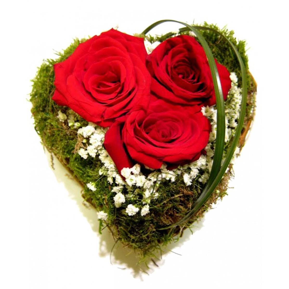 Bailar pegados Corazón Rosas