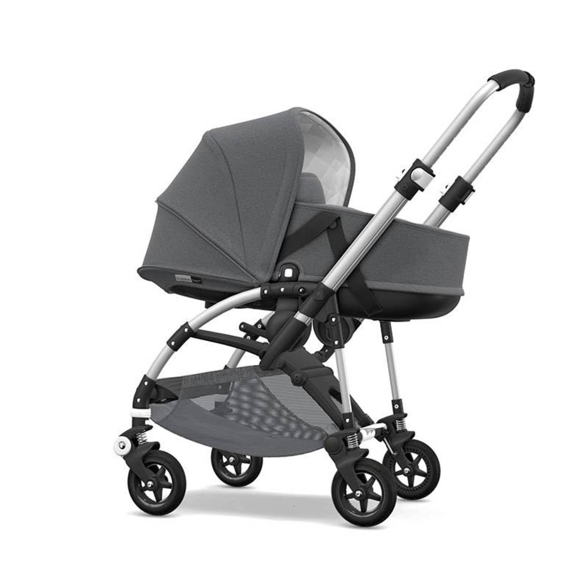 Bugaboo Bee 5 carrito Classic Grey Melange Aluminio con silla y capazo