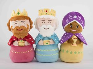Conjunto Tres Reyes Magos de peluche