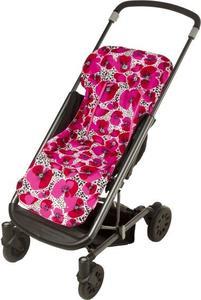 Colchoneta universal para carrito Tuc Tuc Amapolas L&B rosa y rojo