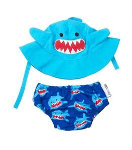 Set bañador pañal y gorro Zoocchini tiburón