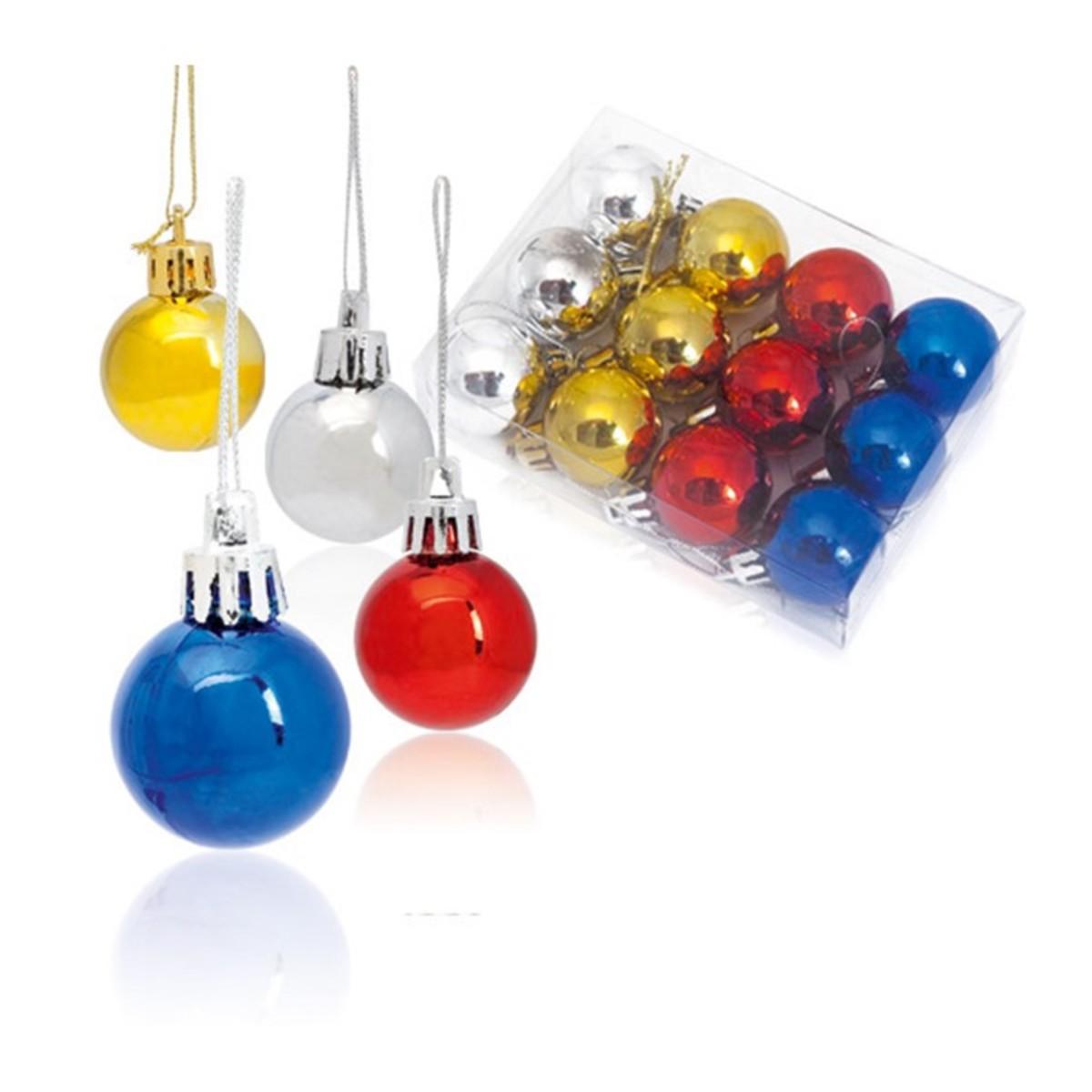 Set de 12 bolas de navidad