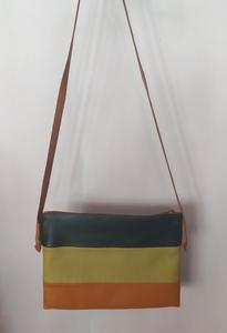 Bolso cuero/napa tricolor