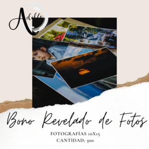 Bono de revelado de fotos 10x15 / cantidad: 300