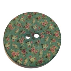 Botón grande fantasía pintado 70mm diseño romántico (pack 2)