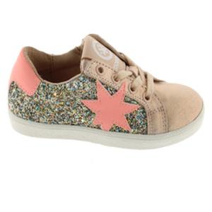Sneaker Niña glitter coral