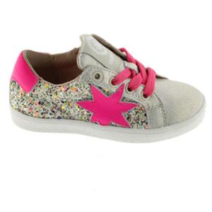 Sneaker glitter niña Fucsia