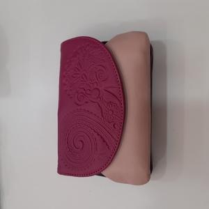Cartera piel rosa