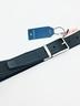 Cinturón piel reversible PERTEGAZ azul/negro