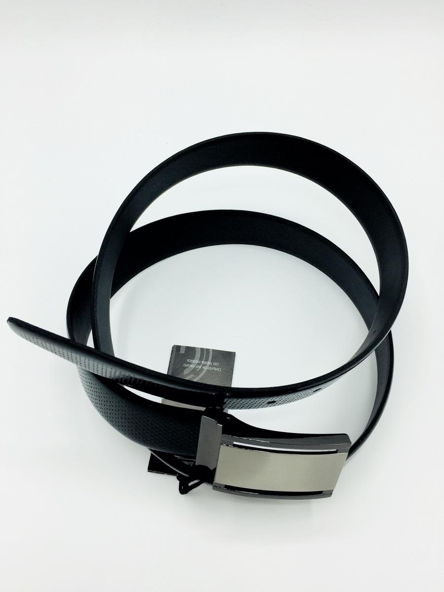 Cinturón ajustable de piel LINDENMANN Color negro brillo