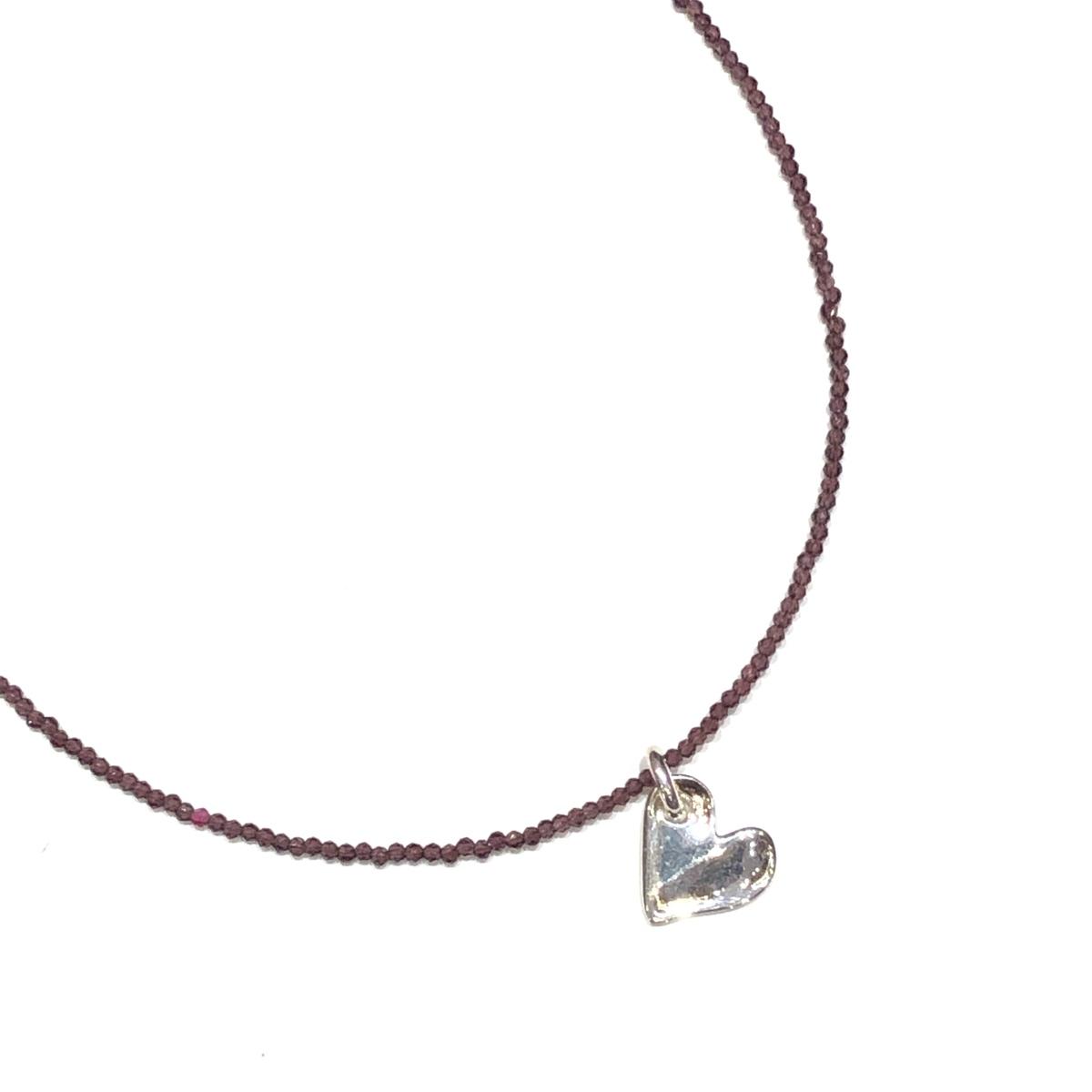 Colgante Corazón + Collar circonitas