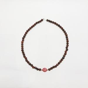 Collar étnico Jaspe rojo y coral
