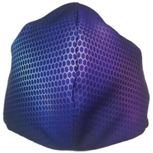 Mascarilla de Tela - Fibra De Carbono Azul